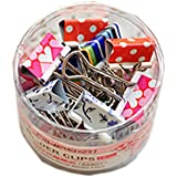 Lovely Printing Style(42CM)Metal Binder Clips/Paper Clips/Clamps[1 Box 24 Sets]