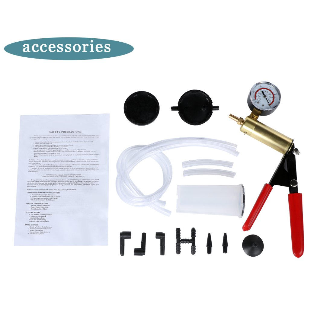 Eshion Car Auto Vehicles 2 In 1 Brake Bleeder And Hand Held Manual Vacuum Pump Tool Kit by eshion (Image #4)