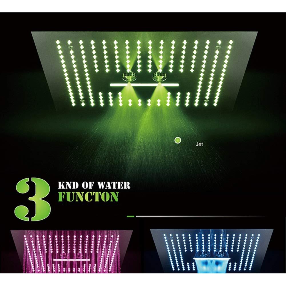 【即発送可能】 サーモスタットシャワーシステム浴室シャワーミキサーセットシャワー蛇口 - 現代のクロームセラミックバルブ真鍮LED 3機能シャワートップシャワー (色 (色 : B) B) B07KQ5TWCZ A - A, アイナスタイル:8cabbfb7 --- arianechie.dominiotemporario.com