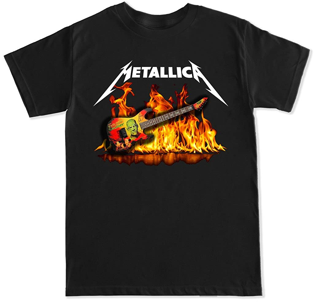302177af7 Amazon.com: FTD Apparel Men's Metallica Kirk Hammett Guitar T Shirt ...