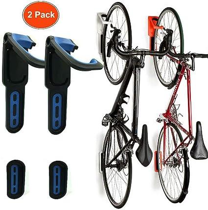 pr/áctico y plegable Soporte de pared para colgar la bicicleta y ahorrar espacio con ganchos de pared para garaje