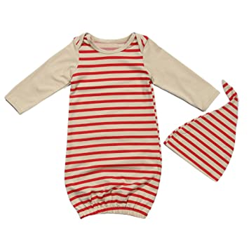 5e19dca474c5 Domybest 2pcs Newborn Baby Kids Outfit Clothes Set Long Sleeve Red ...