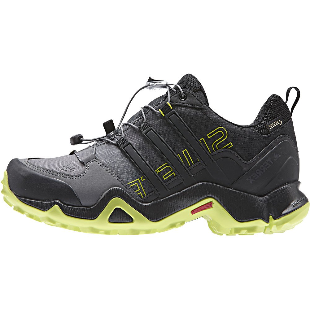adidas outdoor Men's Terrex Swift R GTX Black/Black/Semi Solar Yellow Hiking Shoes - 9 D(M) US by adidas outdoor