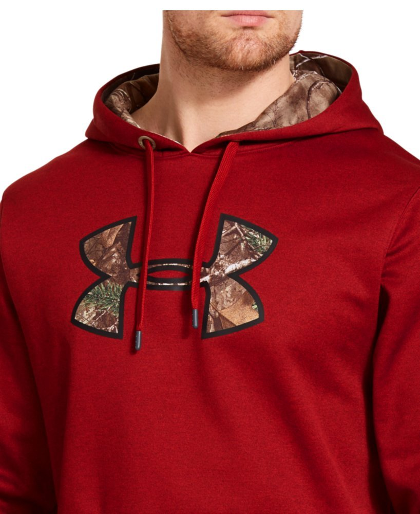 Under Armour Men's Storm Caliber Hoodie, DAREDEVIL RED, LG