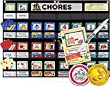 "NEATLINGS Chore System - Chore Chart for Kids | 70+ Chores for Toddlers to Teens | Customize for 1-3 Kids | Size 25""x18"" 