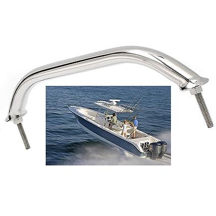GOFORJUMP Reemplazo Durable del Hardware del yate Marino del Barco de la barandilla del asa Pulida de la manija del Acero Inoxidable de 12 Pulgadas