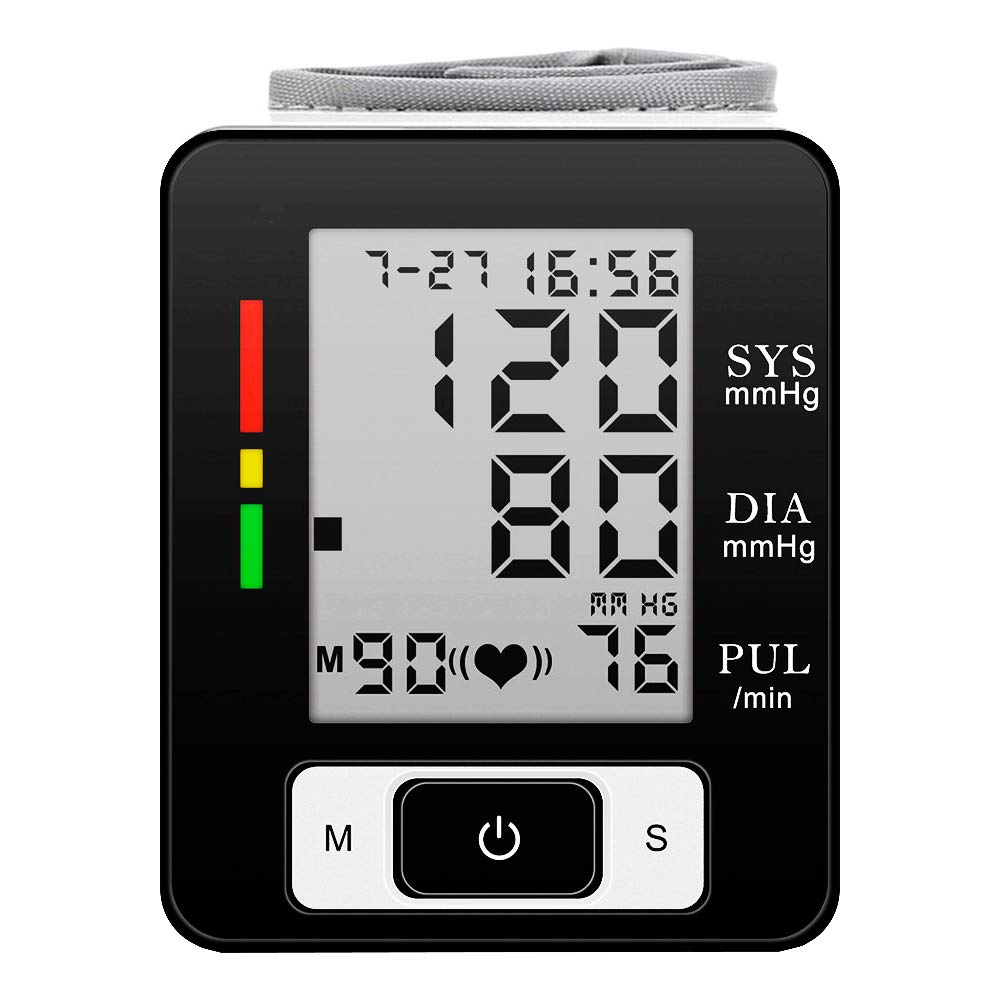 Digital Wrist Blood Pressure Monitor FDA Approved Automatic BP Monitor Portable Case for Home Use