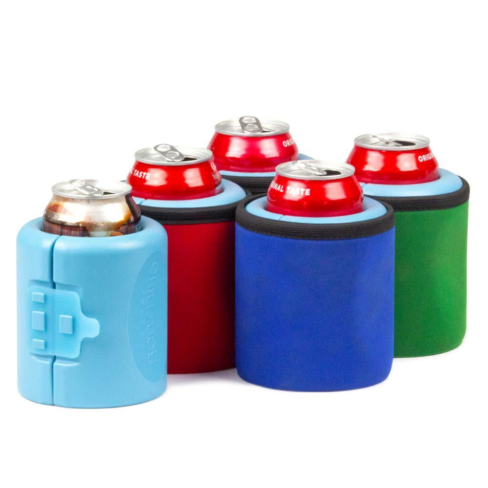 iCube - Gel-infused, Instant Beverage Chiller. 4-Pack: Red, Green, Blue, Black