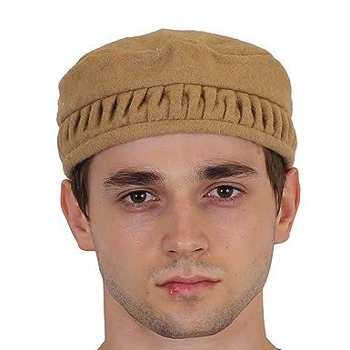 NEON ROCK Men s Woollen Afghan Pakol Cap (Brown)  Amazon.in  Clothing    Accessories a16c4fa3fe8