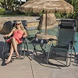 Belleze Deluxe 2-Pack Zero Gravity Chairs & Folding Table w/Cup Holder Set
