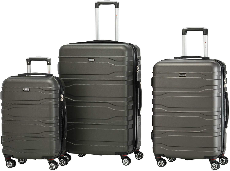 Mancini Lightweight Spinner Luggage 3 Piece Set Navy Blue