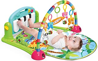 ONE BUYONE 3 in 1 Baby Play Mats Floor Gym Happy Piano Play Mat with Musical Activity for New-Borns