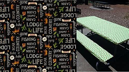 Amazon Com Stay Put Fitted Lodge Life Gone Fishing Print