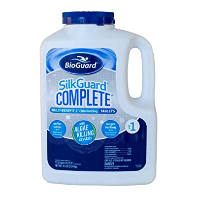 BioGuard SilkGuard Complete 1 Inch Chlorinating Tablets (4.5 lb) : Garden & Outdoor