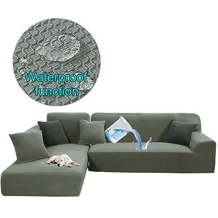 Amazon.com: Taiyucover Stretch L-Shaped Sofa Protector for ...