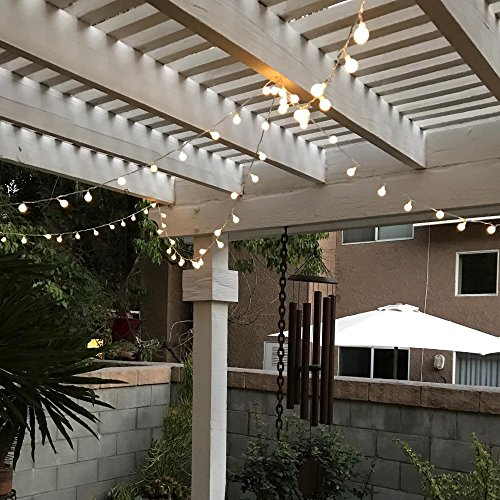 [Remote & Timer] 33Ft Globe String Lights 100LED Fairy Twinkle Lights with Remote 8 Modes Controller & UL Listed Adaptor Plug-for Patio/Party/Garden/Wedding Decor, Warm White by Brightown (Image #7)