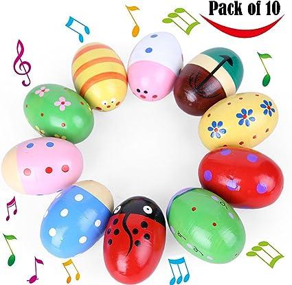 Juego de 10 piezas coloridas y adorables de madera para niños con ...