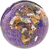 KALIFANO 4'' Gemstone Globe Paperweight with Amethyst Opalite Ocean