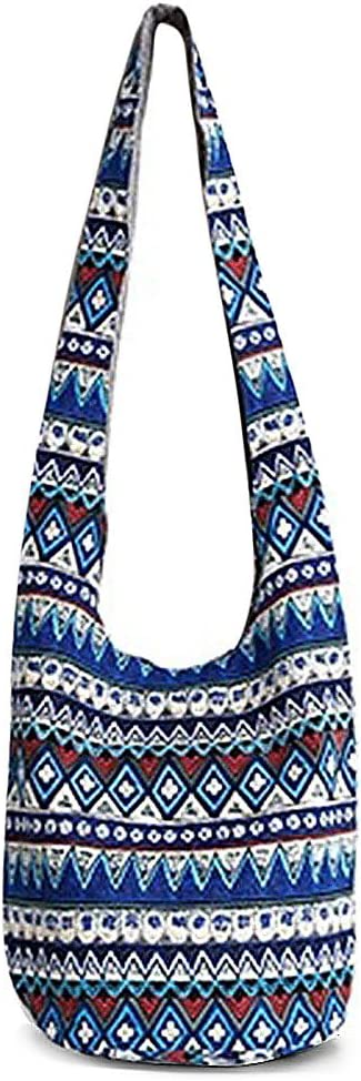 Zhoujinf-Bolso de hombro hippie con flecos grandes bolsos étnicos bolso de viaje Bolsos medium verde
