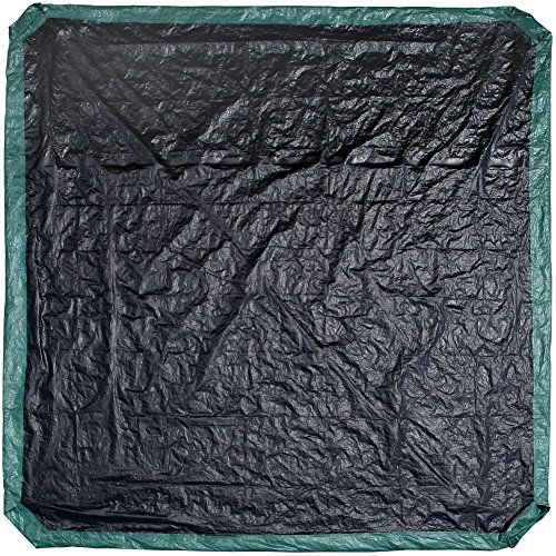 Shefko 0-99393-10909-4 Yard Tarp 8.2 X 8.2 - Versatile Drawstring Tarp for Yard Clean Ups - Convenient and Handy - Formed Into an Instant Dragging Bag - Ideal as BBQ Grill and Outdoors Furniture Cover by Shefko (Image #2)