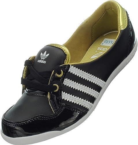 adidas Forum Slipper K - Zapatillas de Material Sintético para Hombre Negro/Dorado/Blanco, Color Negro, Talla 27,5 EU: Amazon.es: Zapatos y complementos