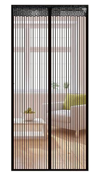 Icegrey Fliegengitter Tür Insektenschutz Magnet Fliegen Gitter Vorhang  Fliegenvorhang Für Balkontür Wohnzimmer Schwarz 70 X 200