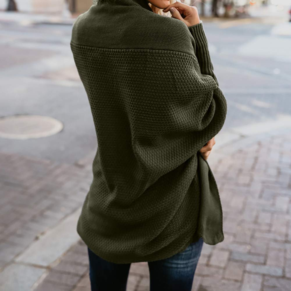 6db5e7f99cf9f4 SHOBDW Mode Damen Frühling Herbst Einfach und Stilvoll Solid Pullover  lässig V Ausschnitt gestrickt lose Langarm Pullover Lang Strickwaren:  Amazon.de: ...