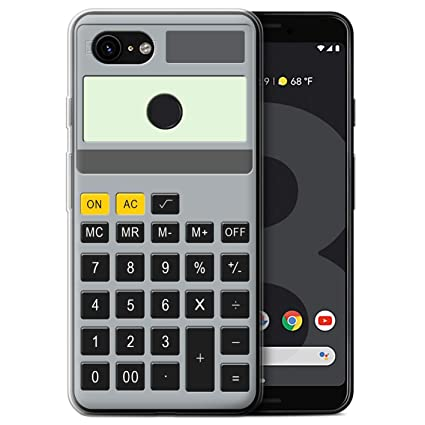 STUFF4 Gel TPU Phone Case/Cover Google Pixel 3 / Calculator  Design/Keys/Buttons Collection