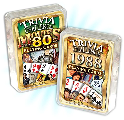 (Flickback Media, Inc. 1988 Trivia Playing Cards & 1980's Movie Trivia Combo: 31st Birthday or Anniversary)