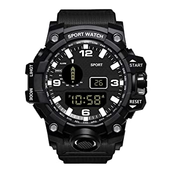 Anglewolf - Reloj Deportivo para Hombre, Resistente al Agua ...