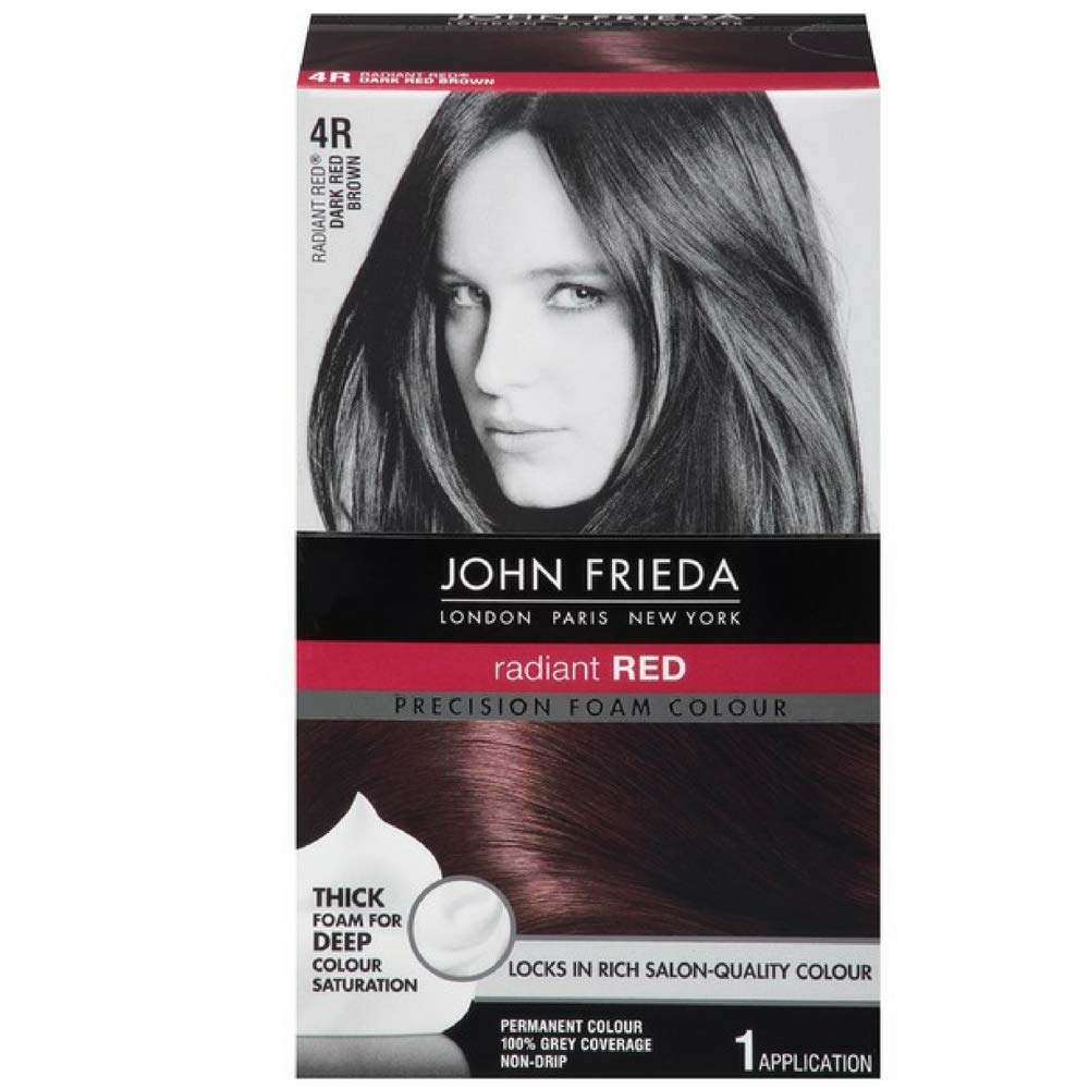 John Frieda Precision Foam Colour 4R Dark Red Brown (3 Pack) by John Frieda
