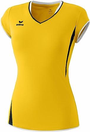 erima Club 1900 - Camiseta deportiva para mujer (manga corta), color amarillo, negro y blanco Yellow/black/white Talla:34: Amazon.es: Deportes y aire libre