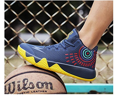 JiYe Mens Athletic Basketball Sports Shoes Breathable Running Fashion Sneakers by Blue Yellow dIWXtcNi