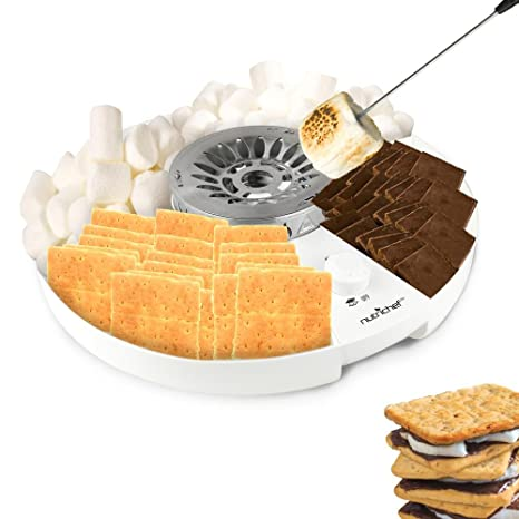 Amazon nutrichef smores maker station set electric nutrichef smores maker station set electric marshmallow candy melter machine kit with flameless solutioingenieria Gallery