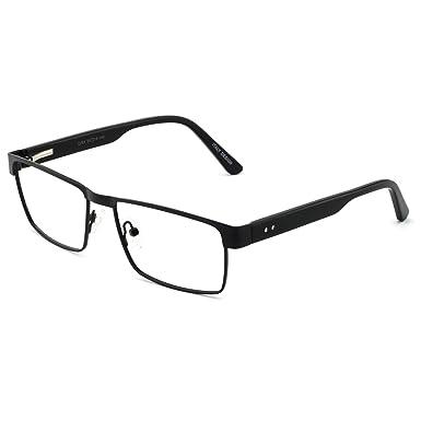 37c6c95a50 OCCI CHIARI Men Metal Rectangular Optical Eyewear Frame With Clear Lenses (54mm