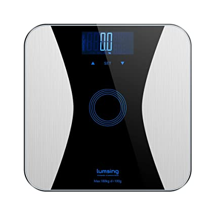 Lumsing grasa corporal – Báscula digital Peso de personas con Slim Diseño para medir Peso BMI