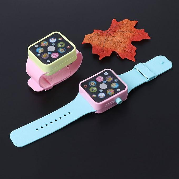 Kofun Reloj Inteligente para niños, Reloj Inteligente Máquina de Aprendizaje de música temprana Reloj de Pulsera Juguete Niños Niños Color Aleatorio: ...
