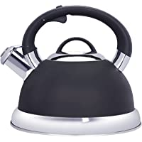 2.5 Quart Whistling Tea Kettle Tea Pot for Stove Top, Food Grade Stainless Steel Metal Water Kettle Stovetop Teapot…