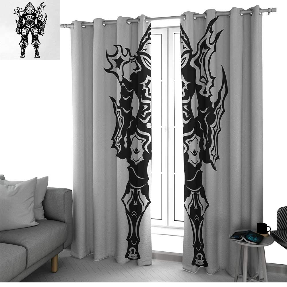 Victorian Decor Patio Door Curtain Panel Home Decoration Nostalgic Boots  With Roses Butterfly And Bird British Trend Upper Class Shoe Art Work  Blackout ...