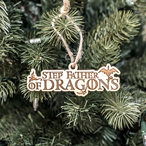 Ornament - Step Father of Dragons - Raw Wood 2x4in
