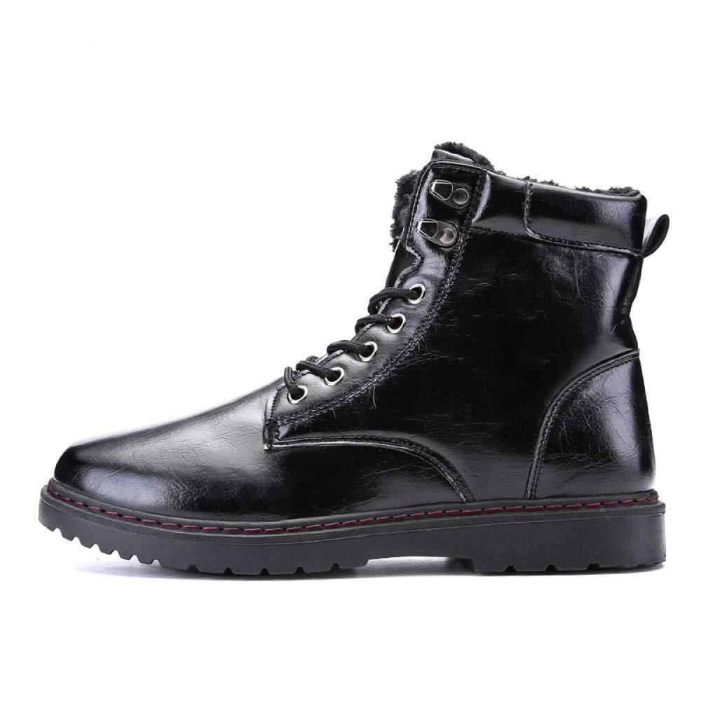 FHCGMX pu-Leder Mode Martin Stiefel für männer männliche Schuhe Erwachsene Feste Stiefel Casual Gehen Herren Schuhe