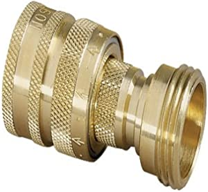 Nelson Hose Quick Connectors Set Male and Female Brass 853364-1001