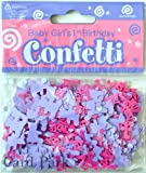Pink & Purple Age 1 Girl Decorative Table Confetti - Approx 14g by Eurowrap