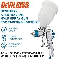$89 » DeVilBiss STARTINGLINE HVLP Spray Gun for Painting Control 1.3mm Gravity Feed Paint Gun…