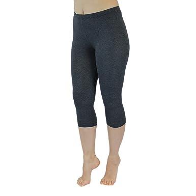 Blickdichte Leggings für Damen Capri Hose Leggins Bunt aus Baumwolle 3 4  Länge  Amazon.de  Bekleidung cd96f39d15