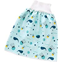 Toddler Cotton Diaper Cover Diaper Skirts,Washable Waterproof Training Pants for Baby Boys Girls 0-4T Blue