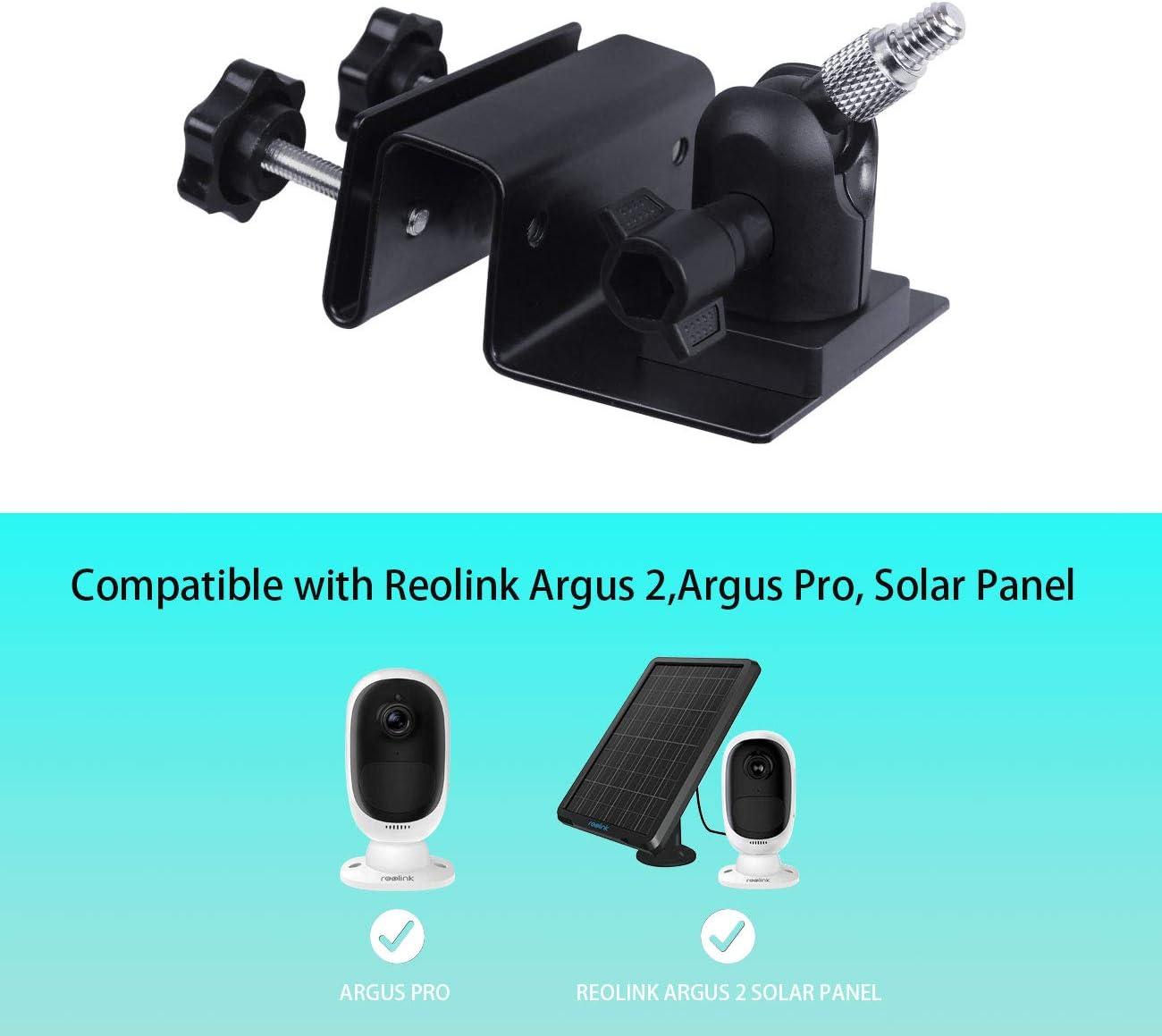 schwarz Solarpanel Argus Pro TIUIHU Wetterfeste Dachrinnenhalterung f/ür Reolink Argus 2 Reolink Zubeh/ör Outdoor Mount