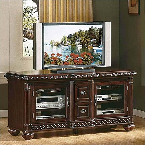 Antoinette TV Cabinet in Distressed Cherry (Distressed Cherry Finish Wood)