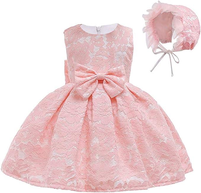 Amazon.com: Vestido de encaje para bebé y niña, para primer ...