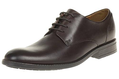 Clarks Truxton Plain Leather Men'S Business Shoes Dark Brown, Tamaño de Zapato:EUR 42